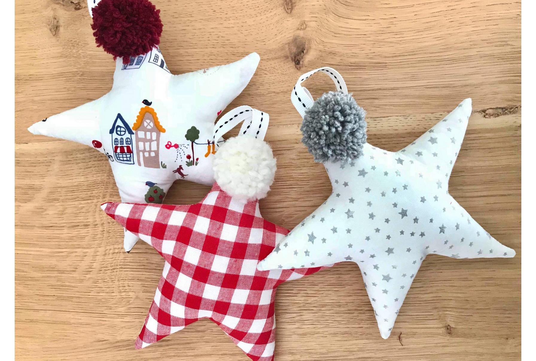 Υφασμάτινα στολίδια / Παιδικά αστέρια