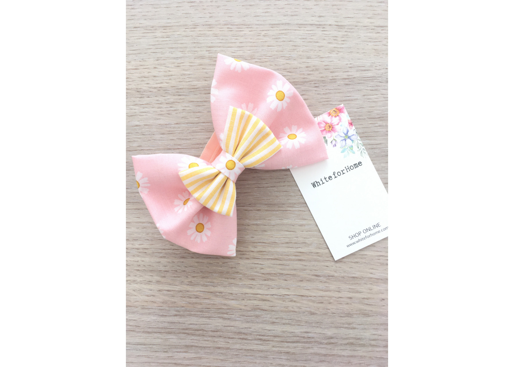Φιόγκοι κορδέλα / Ροζ χαμομήλι