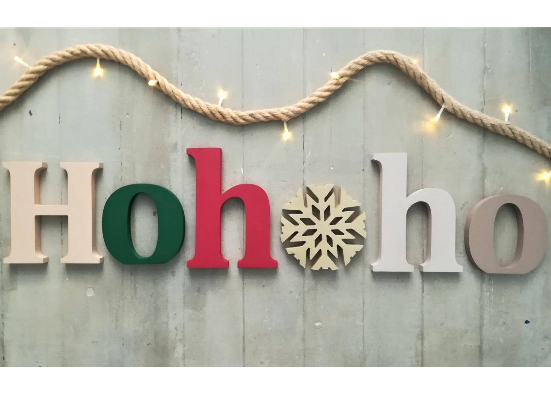 Ξύλινα γράμματα /  Hohoho