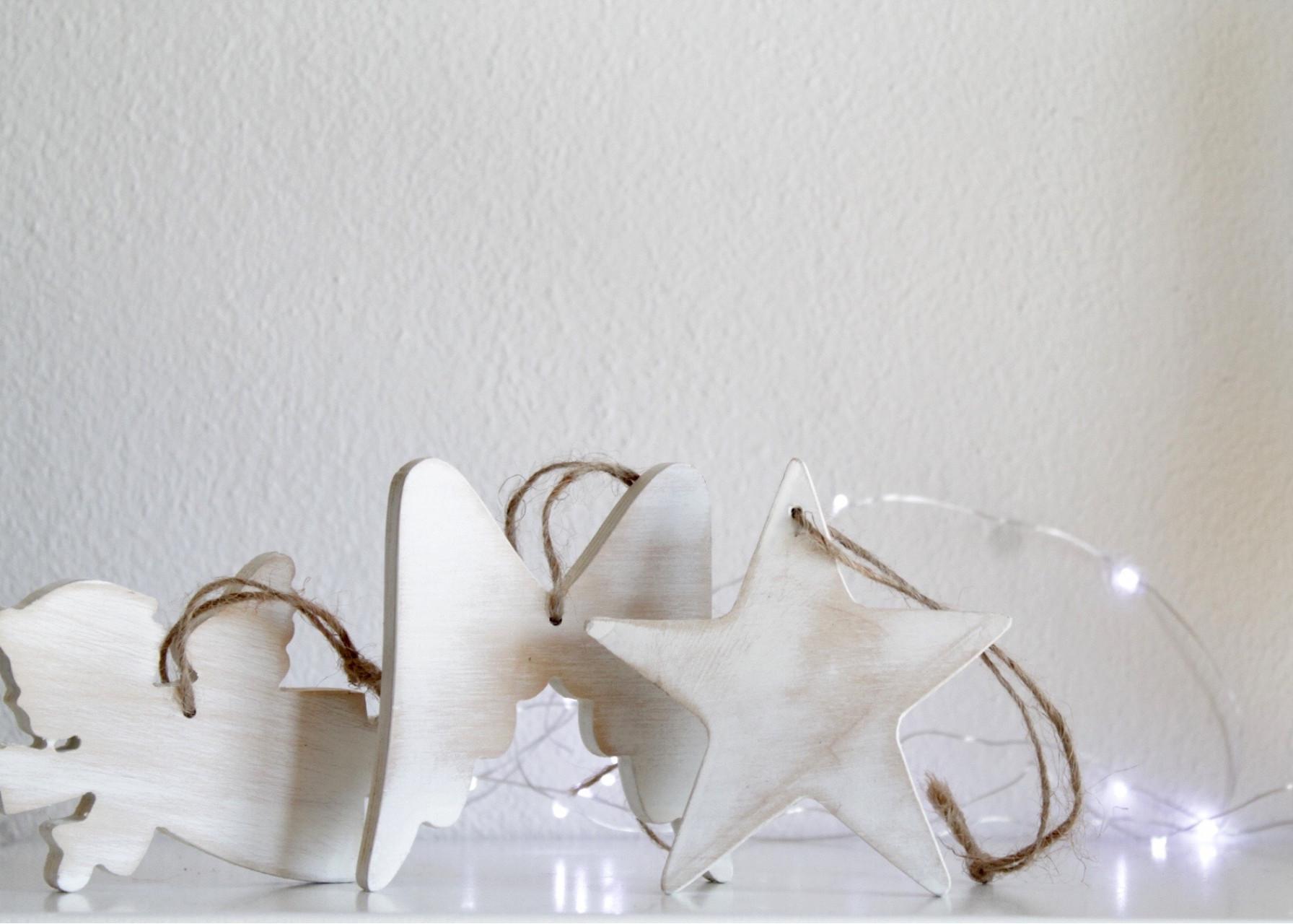 Ξύλινα στολίδια / Λευκά