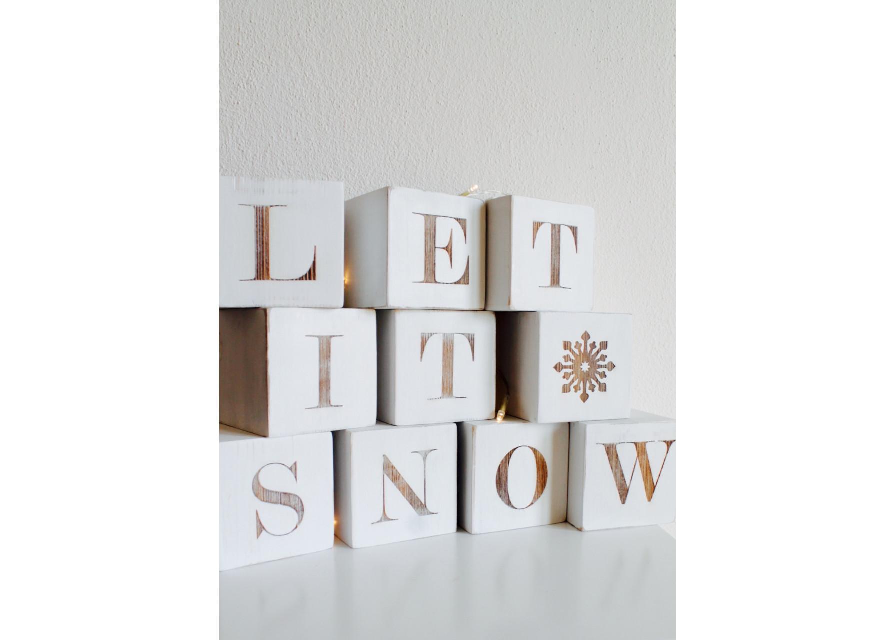 Ξύλινα γράμματα / Let it snow