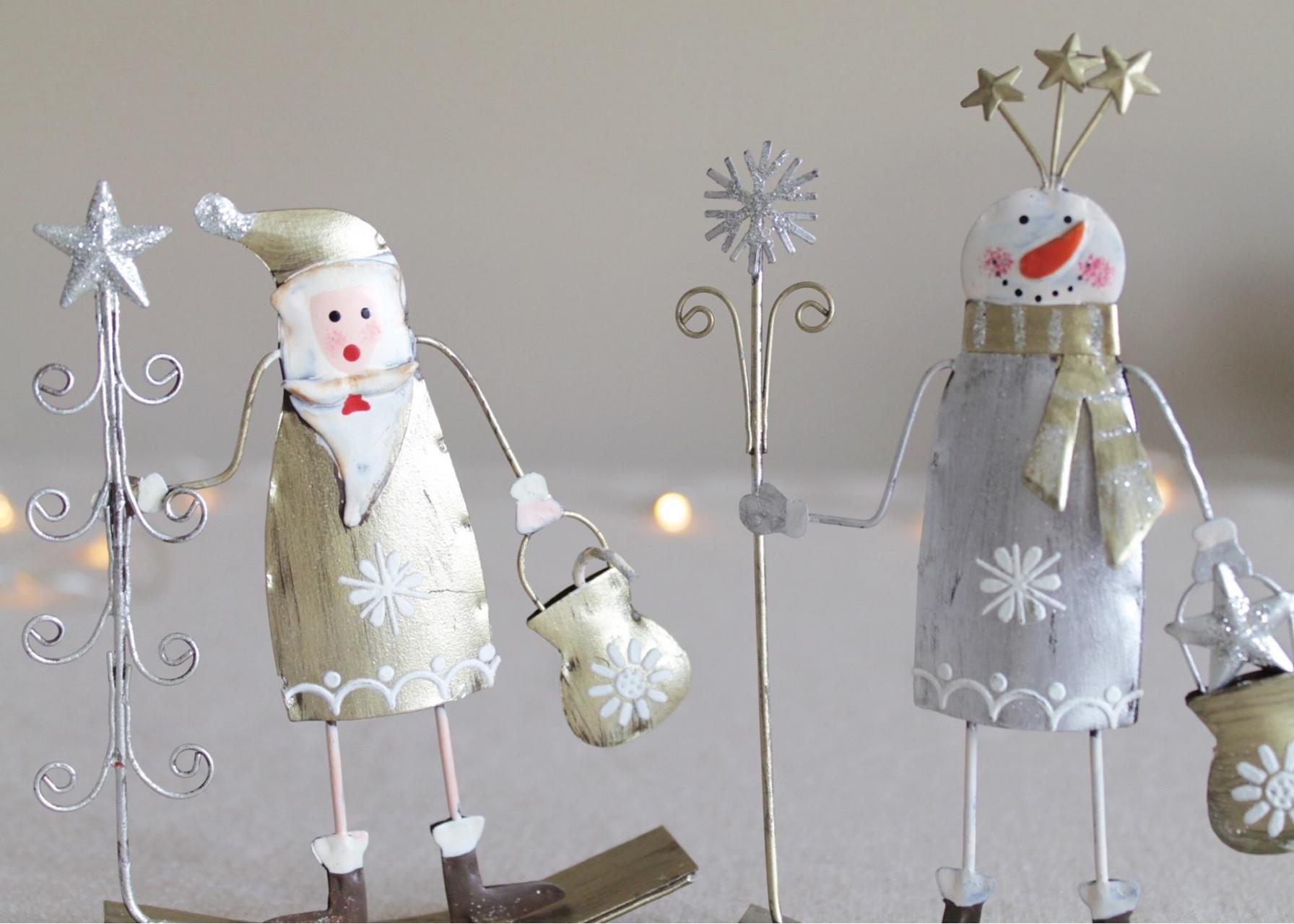 Μεταλλικά στολίδια / Χιονάνθρωποι