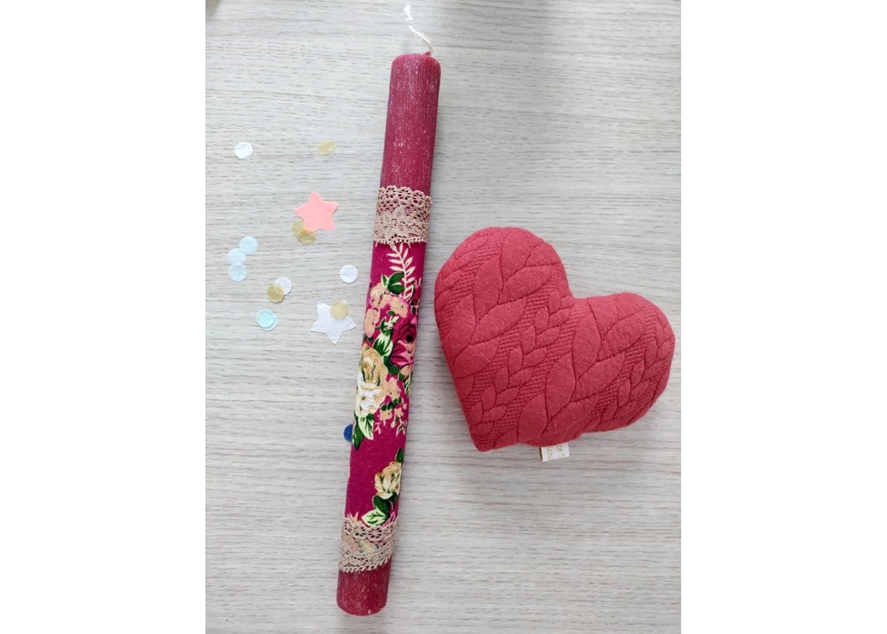 Πασχαλινή λαμπάδα / Καρδιά λεβάντα
