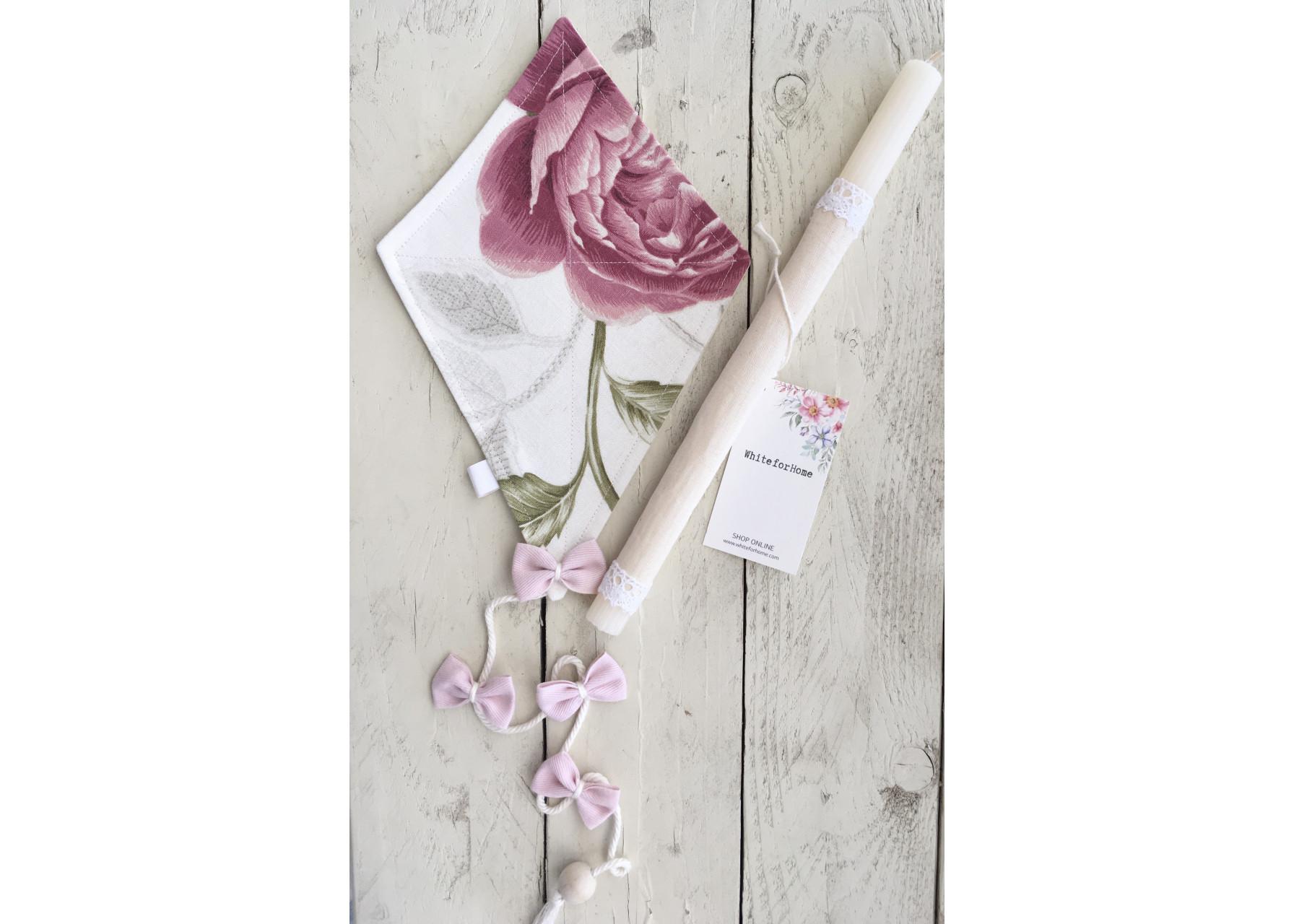 Πασχαλινή λαμπάδα / Xαρταετός τριαντάφυλλο