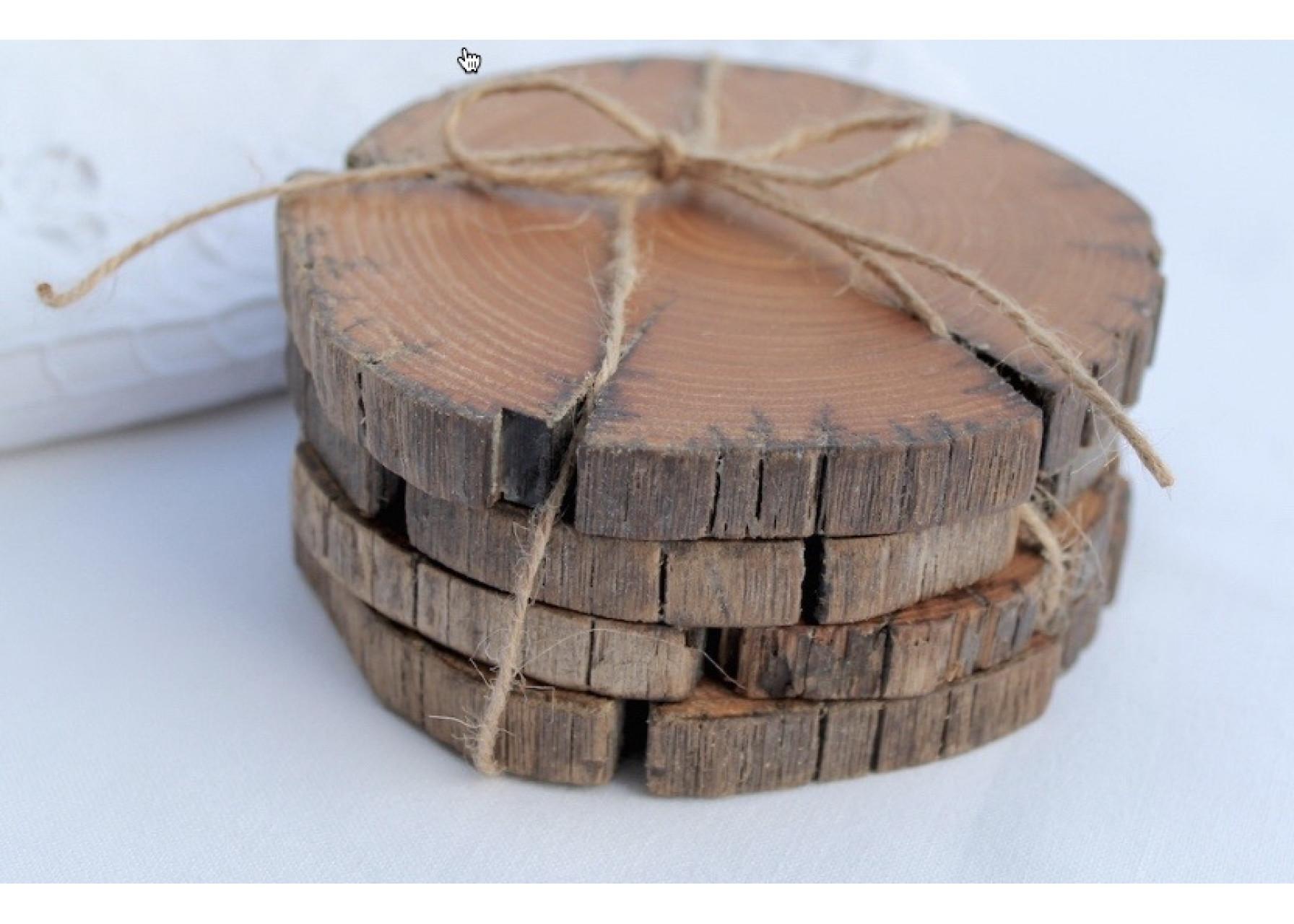 Σουβέρ φυσικό ξύλο