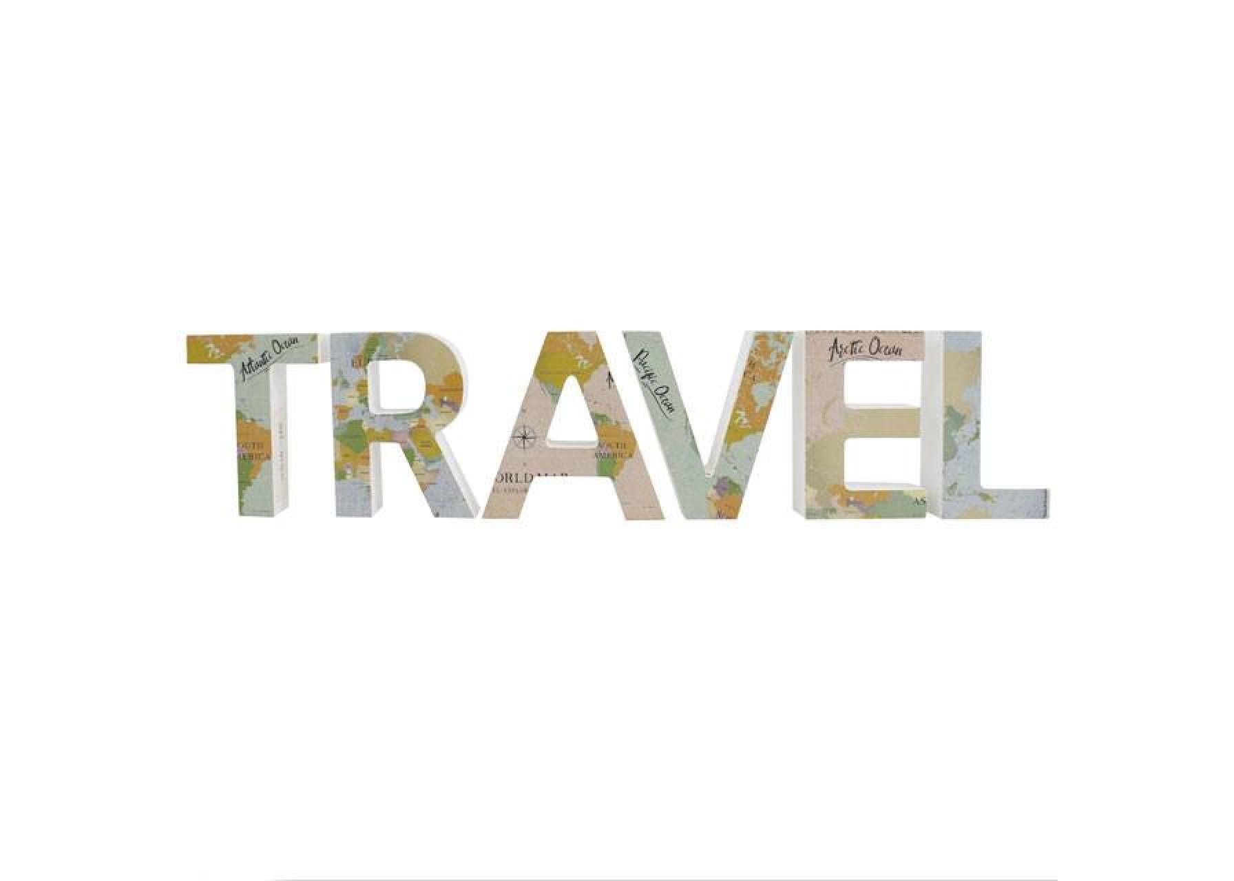 """Γράμματα χάρτης """"TRAVEL"""""""