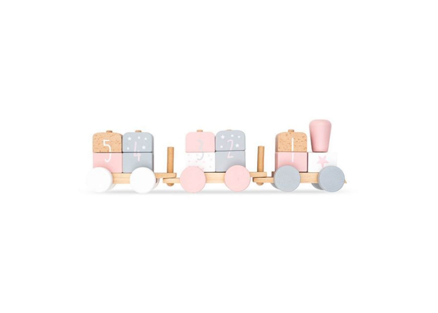 Ξύλινο παιχνίδι / Ροζ τρενάκι