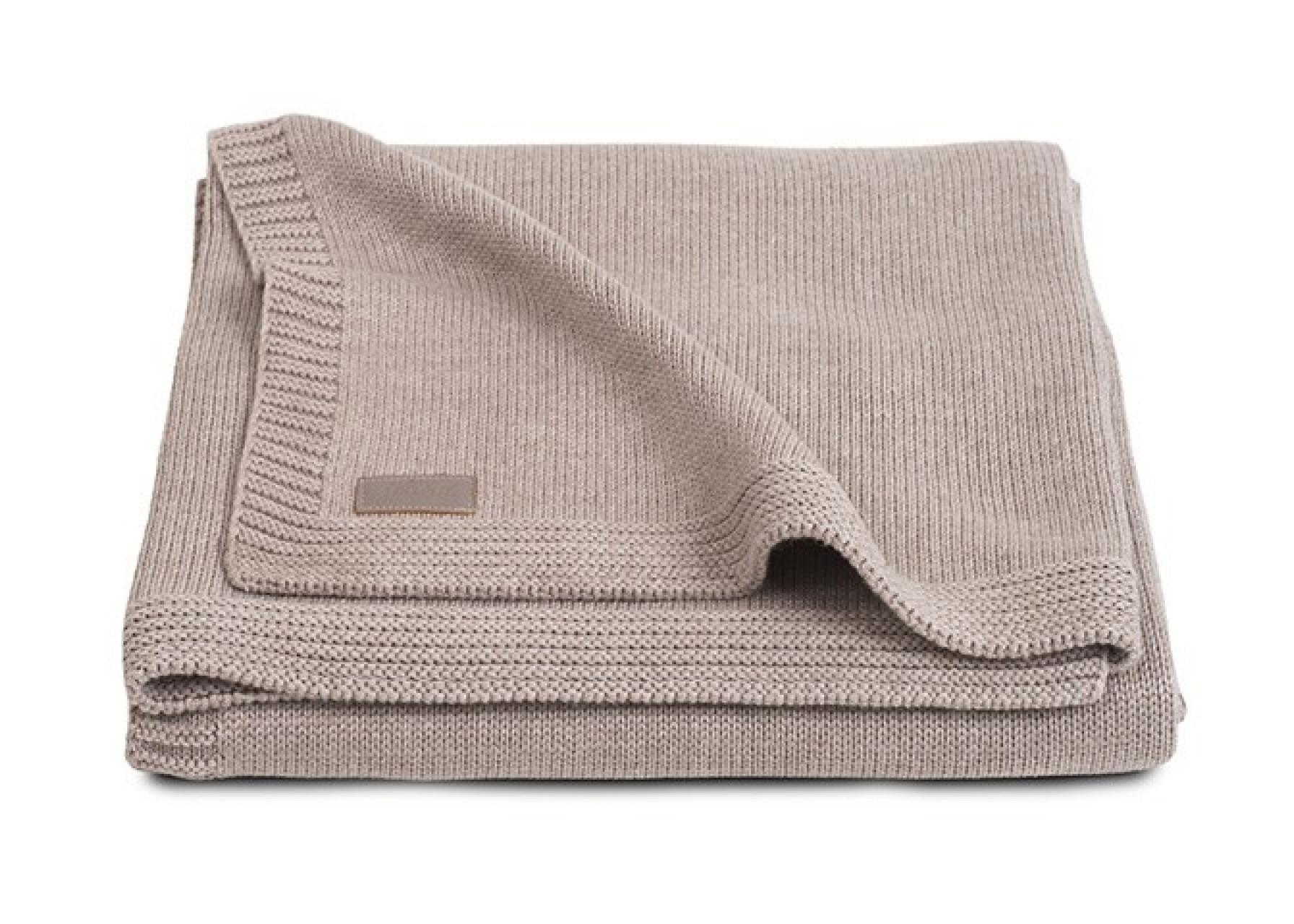 Πλεκτή κουβέρτα / Μπεζ