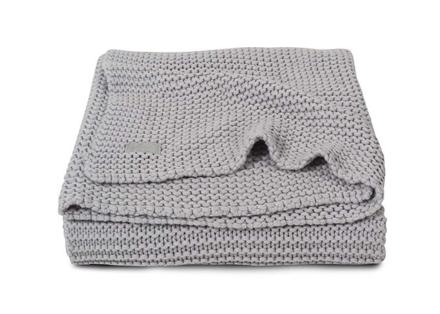Πλεκτή κουβέρτα / Ανοιχτό γκρι