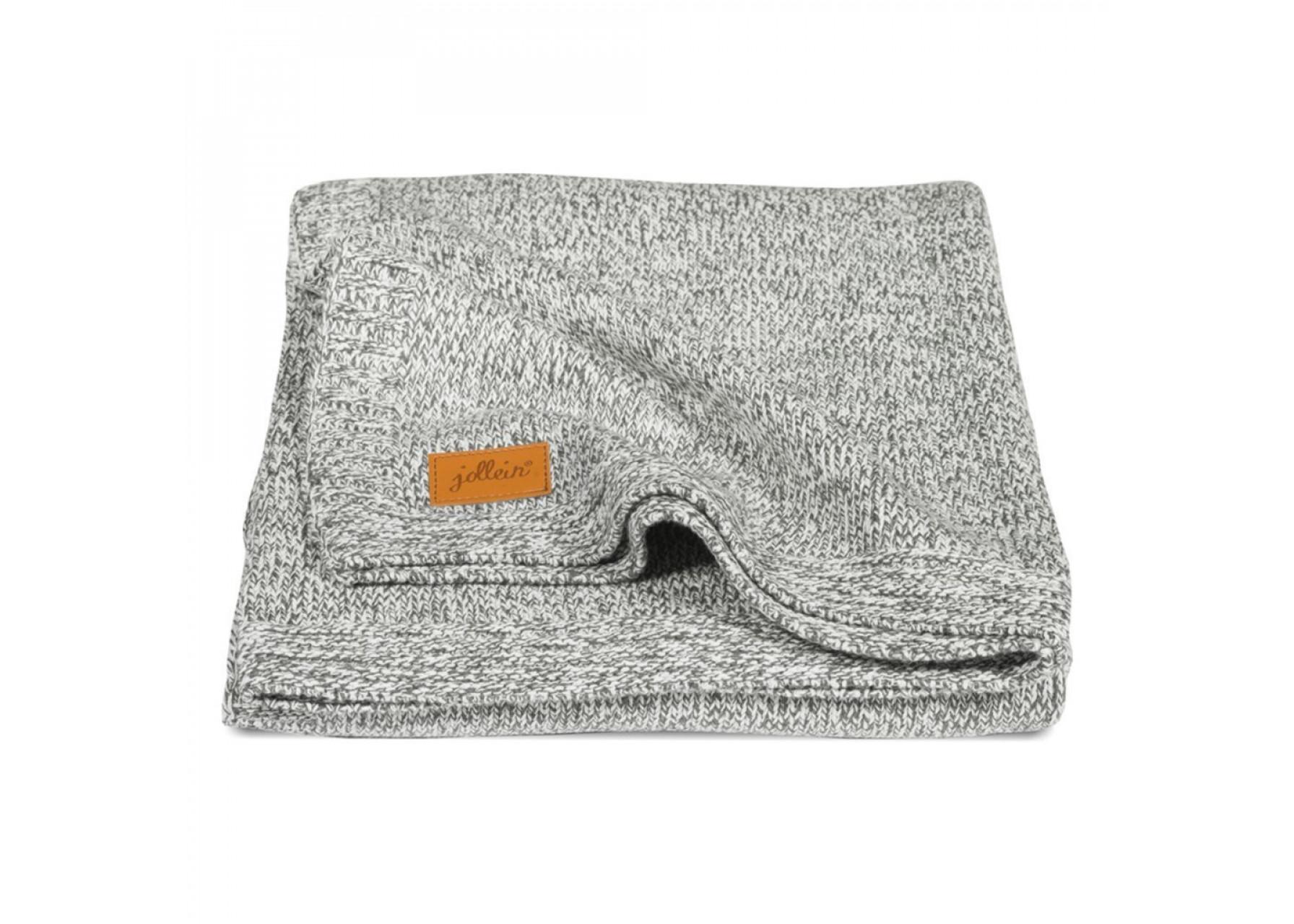 Πλεκτή κουβέρτα / Γκρι