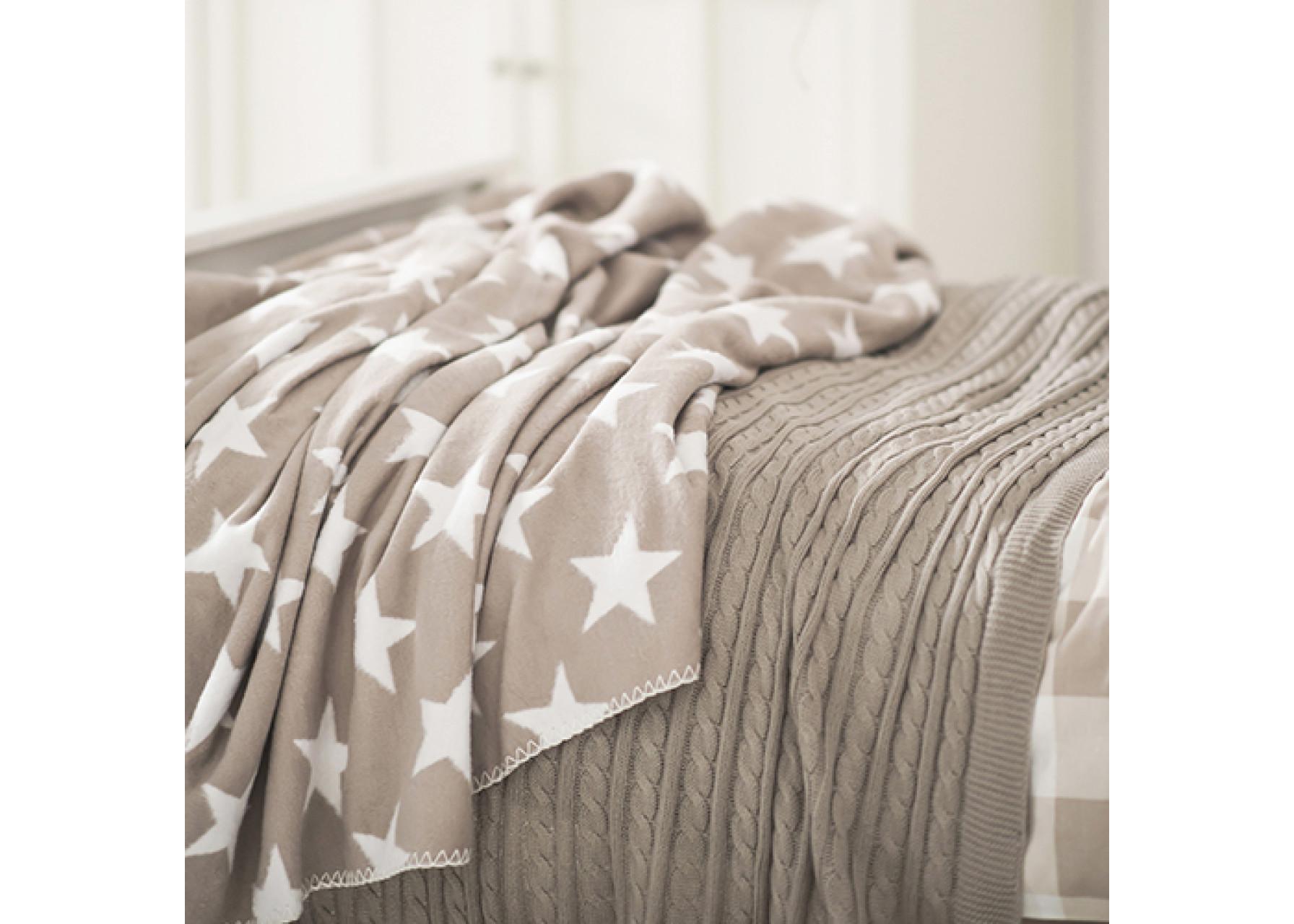 Kουβέρτα αστέρια / Μπεζ