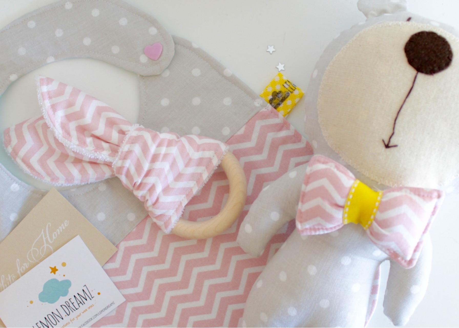 Σετ δώρου για νεογέννητο / Pink Los Fiogos