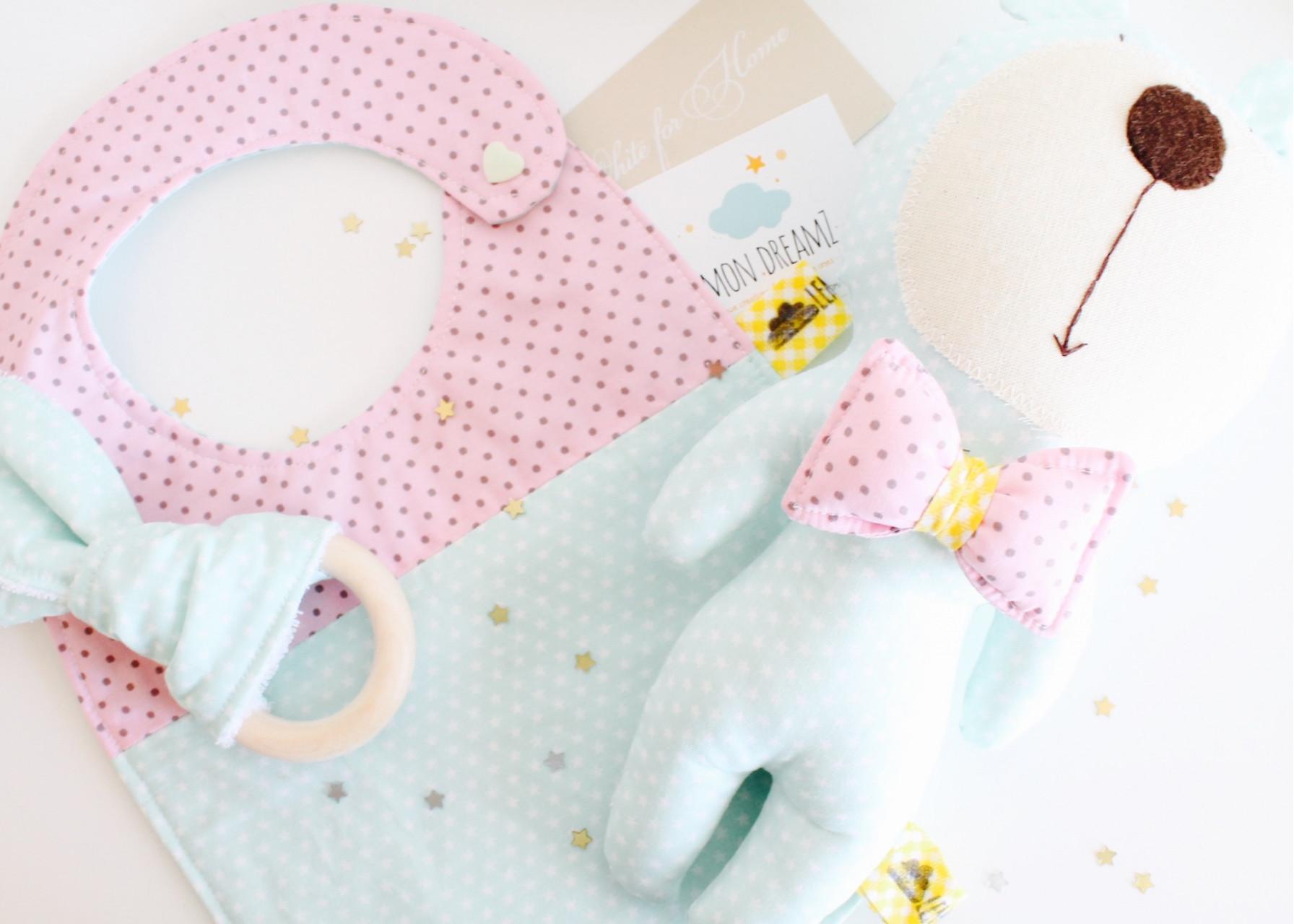Σετ δώρου για νεογέννητο / Mint Los Fiogos