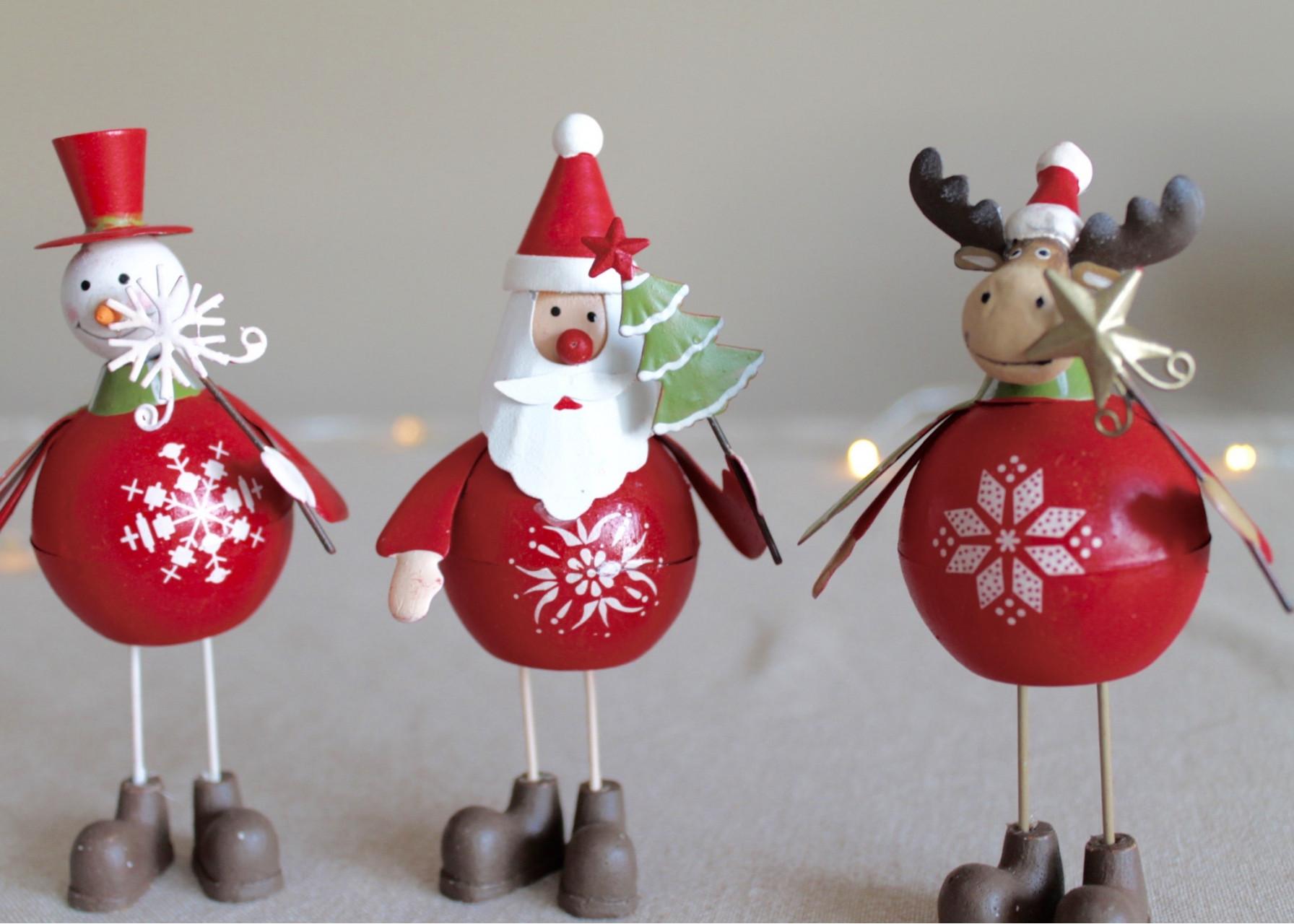 Μεταλλικά στολίδια / Santas